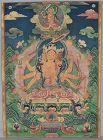 19c Tibetan thangka GODDESS MARICI