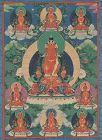 Early 19c Tibetan thangka AMITABHA with 8 manifestations