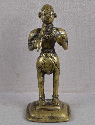 18c Indian bronze 2-armed GOVINDA BHAIRAVA