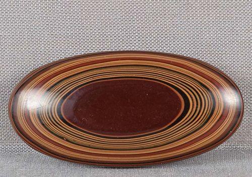 1930s Japanese lacquer OBIDOME netsuke multicolored layers