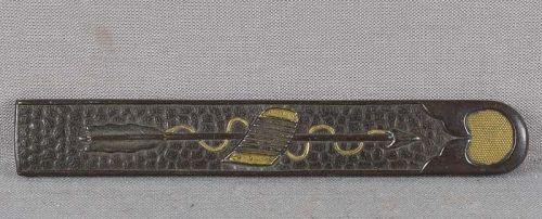 19c Japanese sword KOZUKA arrow & armor