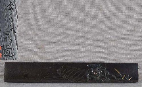 19c Japanese sword KOZUKA Ebisu on boat by SHOGETSUSAI HARUYUKI