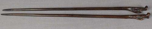 19c tea ceremony HIBASHI charcoal chopsticks Fungus of Immortality