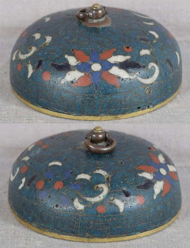 Early 19c cloisonne netsuke SUIGARAAKE ashtray