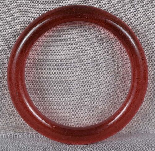 19c Chinese Peking glass red bangle baby BRACELET