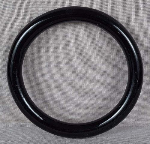 19c Chinese Peking glass black bangle BRACELET