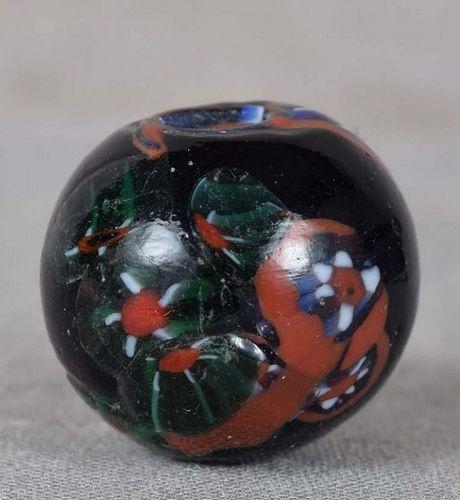 19c glass OJIME netsuke slide