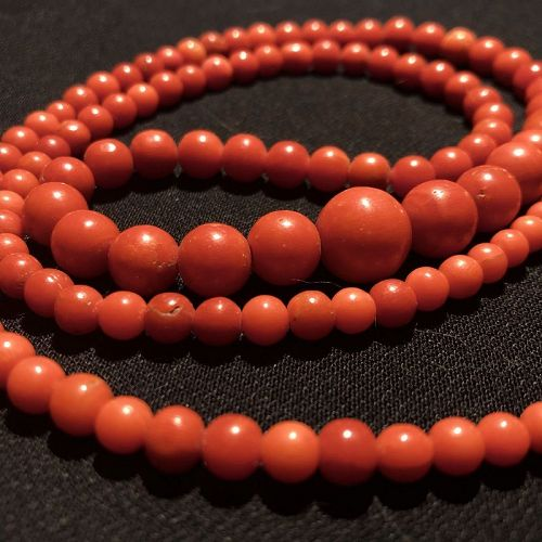 Vintage Chinese Natural Undyed Red Coral