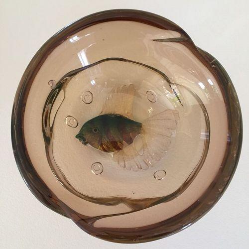 Barbini Aquariam Bowl with Murrine Fish