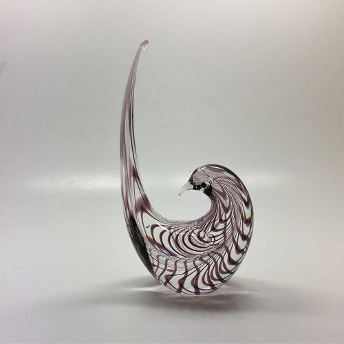 stylized bird modern Murano glass