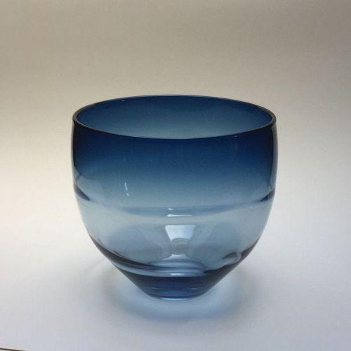 Don Gonzalez Steel-blue Glass Wrap Bowl