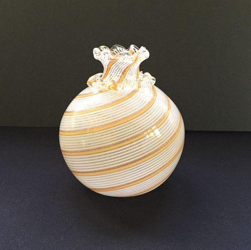 Dino Martens for Aureliano Toso Half Filigree Vase