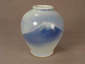 Japanese Porcelain Fukagawa Jar N.Y.K. Line Circa 1930