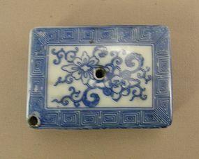 Japanese Water Dropper Blue Decoration Circa 1930