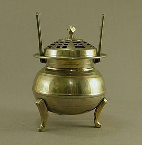 Korean Brass Incense Burner Circa 1930