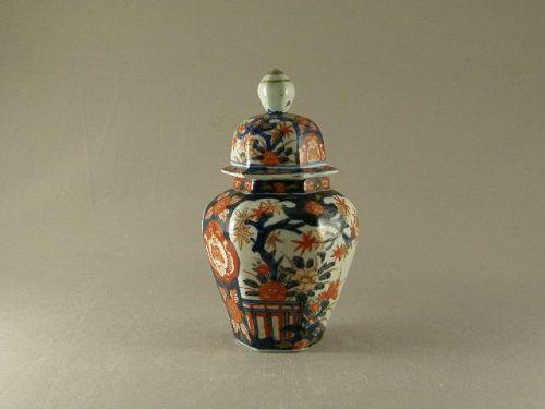 Small Japanese Imari Temple Jar Circa 1900