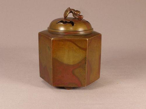 Japanese Bronze Incense Burner Murashido Decorated Meiji Period