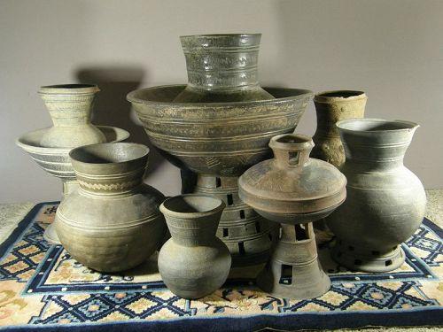 Korean Silla Dynasty Ceramic Collection 5th/7th Century