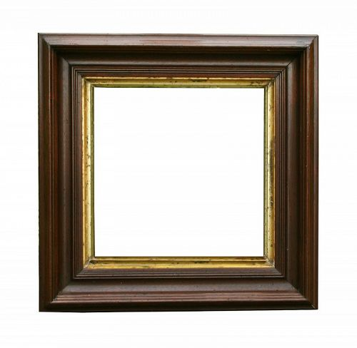 """Antique Victorian Walnut Picture Frame, 10"""" X 10"""" opening at rear"""