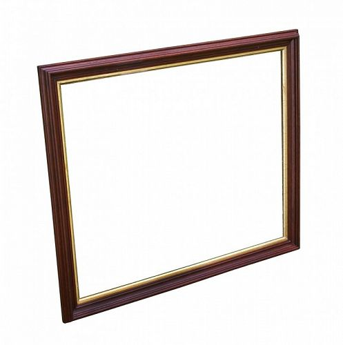 """LARGE Victorian Walnut Picture Frame, c.1870 28 1/2"""" X 24"""" Overall"""
