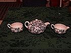 Fenton Flow blue mini tea pot set