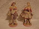 Sitzendorf Voight large figurine pair