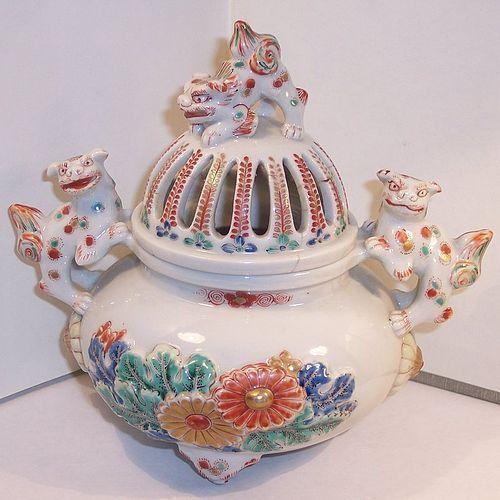 Antique Japanese Porcelain Arita Kakiemon Incense Burner c.1790