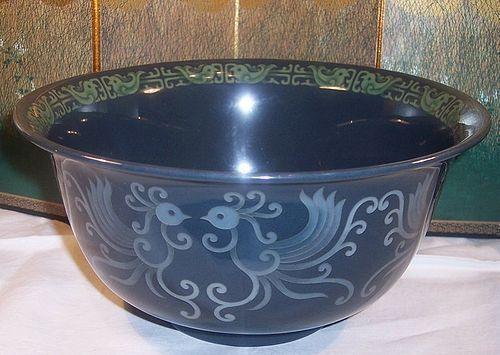 Rare Antique Art Deco Japanese Cloisonne Enamel Bowl Ando Taisho