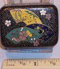 Antique Japanese Cloisonne Enamel Miniature Trinket Box attr Inaba