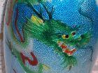 Japanese Cloisonne Enamel Silver Bas Taille Dragon Vase attr Kawaguchi