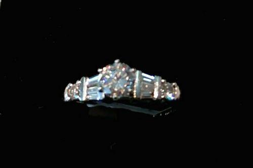 PLATINUM w ..60 CARAT MAJOR DIAMOND ENGAGEMENT RING