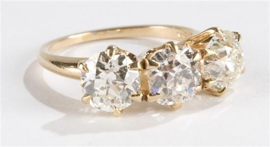 3 ACROSS ANTIQUE DIAMOND RING ***  4 CARATS TDW