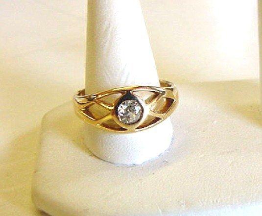 ANTIQUE .40 CARAT DIAMOND RING UNUSUAL