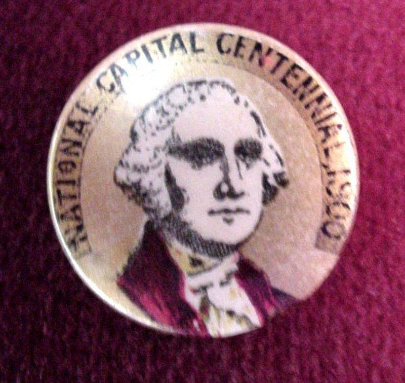 G.Washington NAT'L CENTENNIAL PINBACK {1900