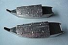 950 STERLING PAIR OF FIGURAL JAPAN BOATS SALT & PEPPERS