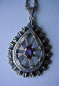MEXCAN STER. LOS BALLESTEROS NECKLACE WITH ALEXANDRITE