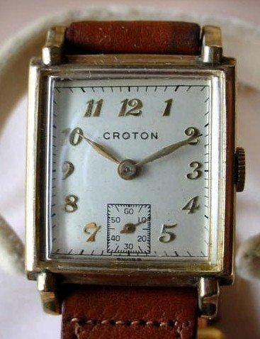 GENT'S GF CROTON WRISTWATCH BOX & PAPERS Ca. 1950- 1970