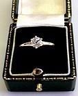 ANTIQUE HALF CARAT DIAMOND ENGAGEMENT RING