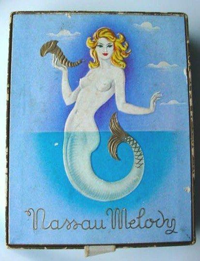 VINTAGE PERFUME BOX MERMAID COVER 'NASSAU MELODY'