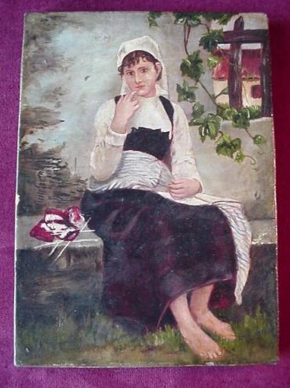 OC BAREFOOT FRENCH GIRL { late 19th Century