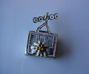 835 CABLE CAR CHARM WITH COLORFUL ENAMEL