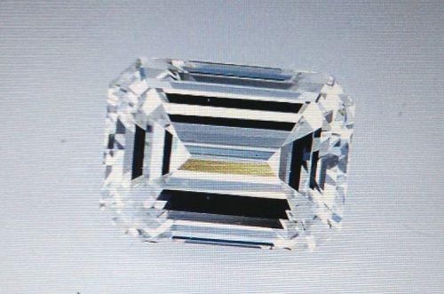 BEAUTIFUL 3.05 CARAT EMERALD CUT DIAMOND  }  GENUINE DIAMOND