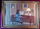OIL on BOARD...PIANO LESSONS { Jessen AAGE