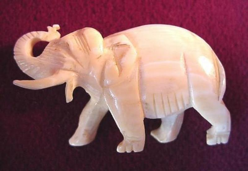OLD IVORY ELEPHANT PIN {ADD To The Collection