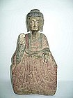 Stone Figure of Seated Buddha - Circa. 17th Century