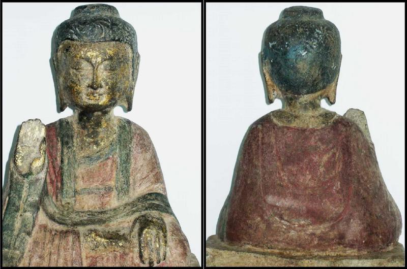 Stone Figure of Seated Buddha - Circa. 17th Century