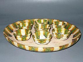 Tang Dynasty - Funerary Sancai Tea Cup Set