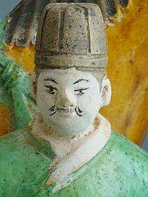 Ming Dynasty - Funerary Sancai Glazed Groom and Horse
