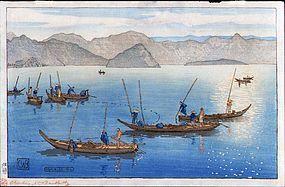 Charles Bartlett Japanese Woodblock Print - Ushibuse SOLD
