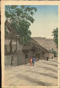 Noel Nouet Japanese Woodblock Print - Kuromon SOLD